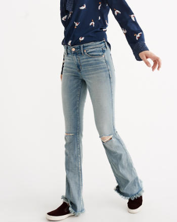 Womens Skinny Flare Jeans