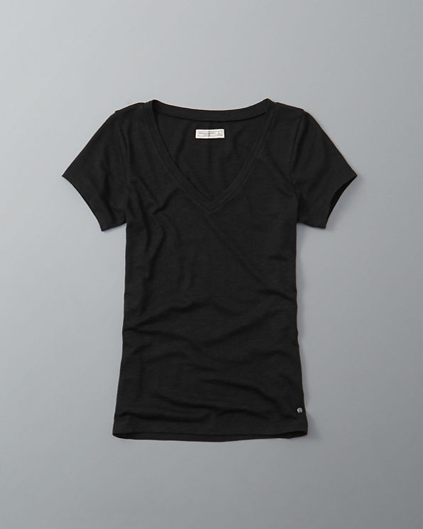 Womens slim v neck tee womens tops for Womens tall v neck t shirts