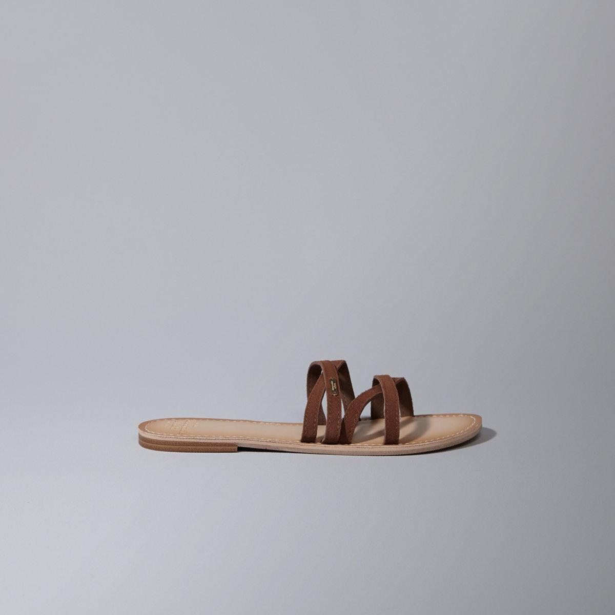 Crossover Slide Sandals