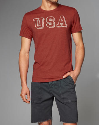 Mens Americana Graphic Tee