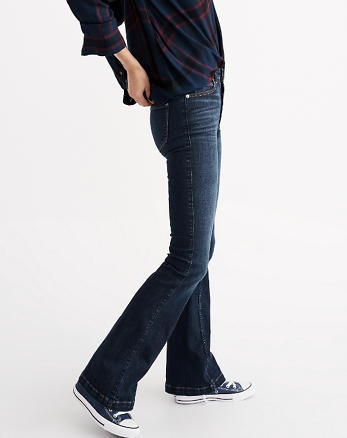 ANF High Rise Skinny Flare Jeans