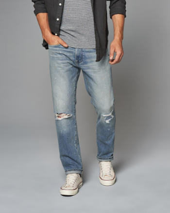 Mens Slim Straight Jeans