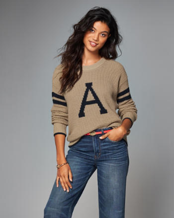 Womens Varsity Crew Sweater