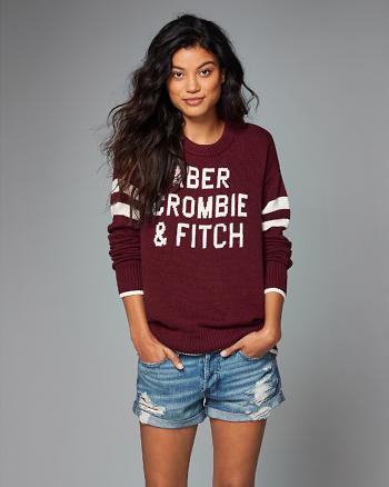 ANF Varsity Crew Sweater