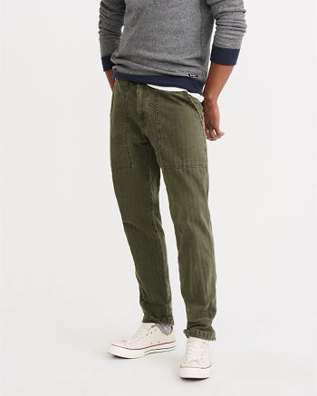 ANF Slim Straight Herringbone Chino Pants