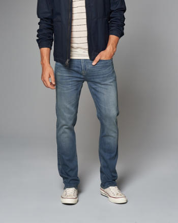 Mens Slim Straight Performance Jeans