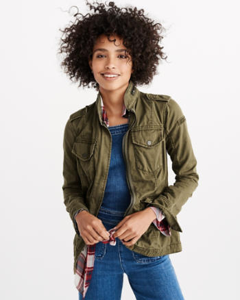 Womens Twill Utility Jacket