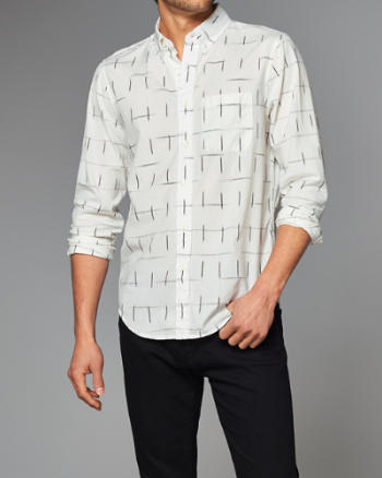 Mens Ikat Printed Shirt