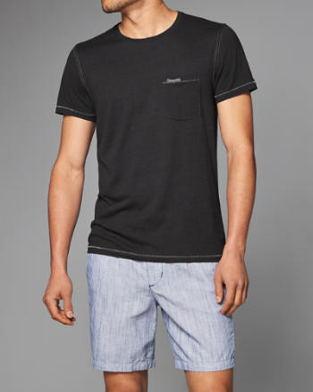 Mens Pocket Crew Tee