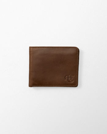Mens Monogram Logo Leather Wallet