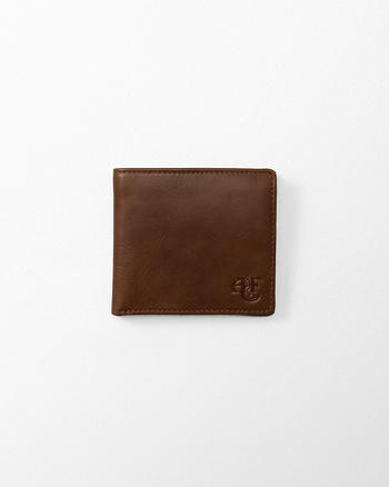 ANF Monogram Logo Leather Wallet