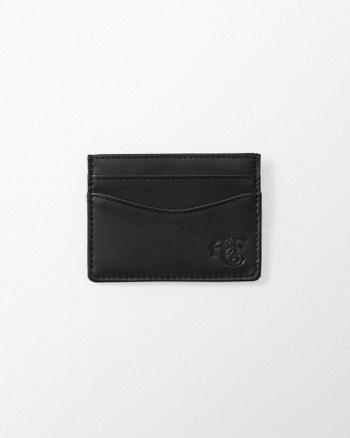 ANF Monogram Logo Leather Cardholder