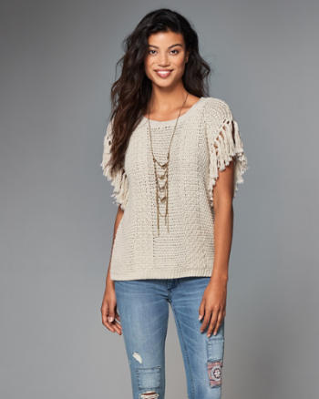 ANF Fringe Top