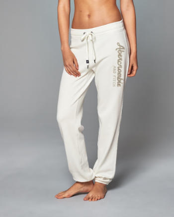 Womens Logo Banded Sweatpants