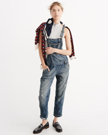 Womens Cropped Overalls