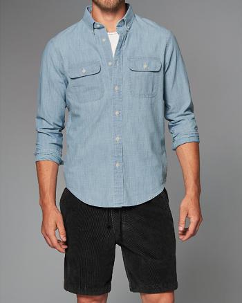 ANF Pocket Chambray Shirt