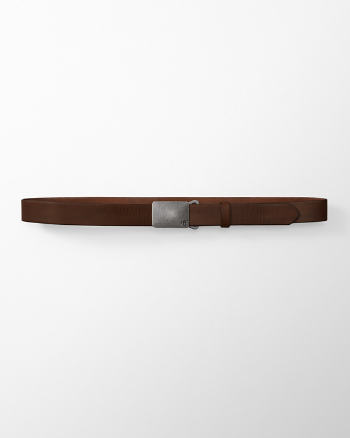 Mens Logo Leather Belt