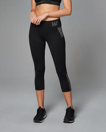 ANF Color Block Cropped Leggings