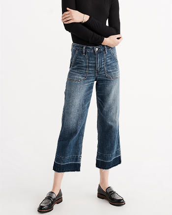 ANF High Rise Cropped Stovepipe Jeans