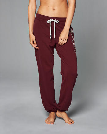 ANF Logo Banded Sweatpants
