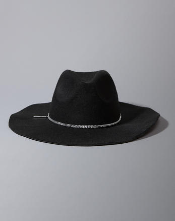 ANF Chain Band Felt Hat