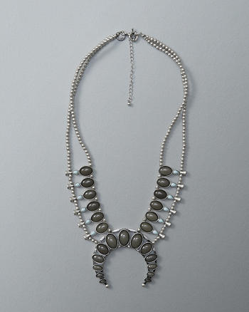 ANF Squash Blossom Statement Necklace