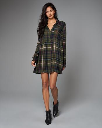 ANF Plaid Shirt Dress