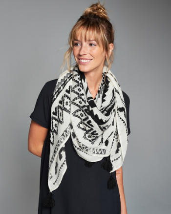 Womens Southwest Square Scarf