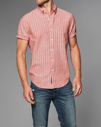 Mens Homespun Striped Shirt
