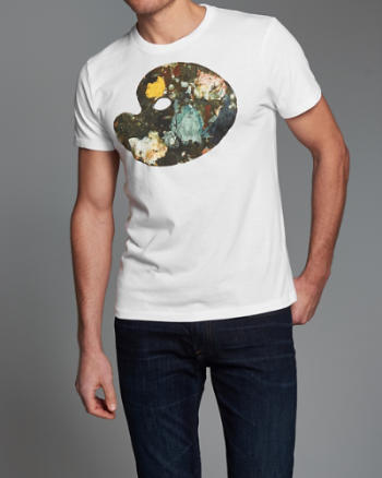 Mens Painted Graphic Tee