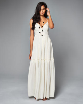 Womens Embroidered Maxi Dress