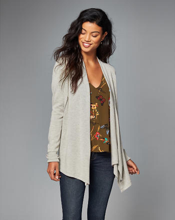 ANF Asymmetric Zip Cardigan