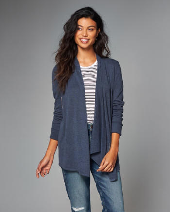 Womens Asymmetric Zip Cardigan