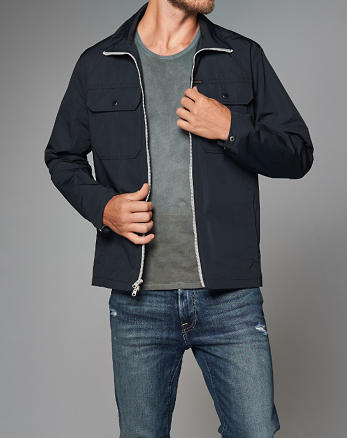 ANF Mock Neck Jacket