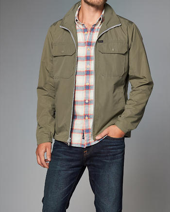 ANF Mock Neck Jacket