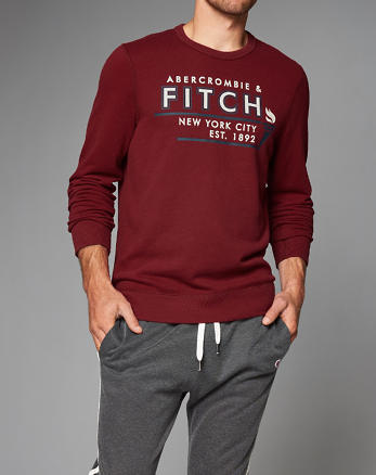 ANF Graphic Crew Sweatshirt