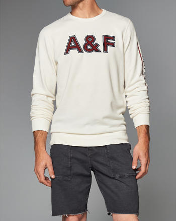 ANF Retro Logo Crew Sweatshirt