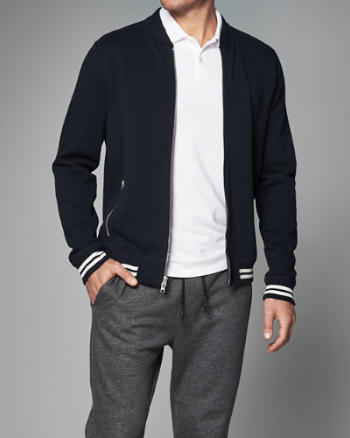 ANF Full-Zip Baseball Jacket