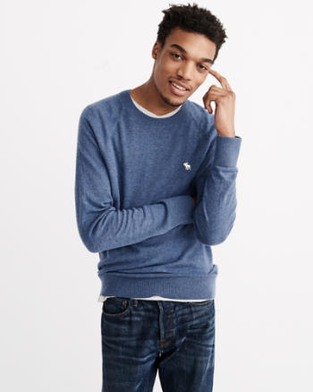 Mens Wool-Blend Icon Crew Sweater