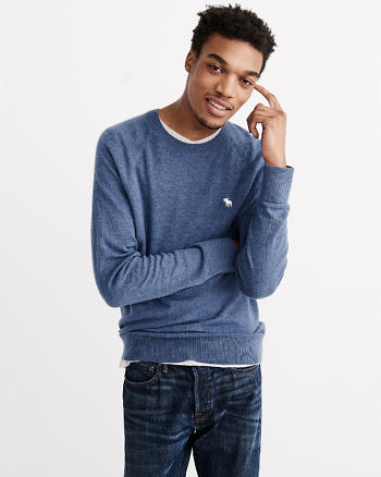 ANF Wool-Blend Icon Crew Sweater