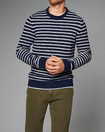 ANF Striped Crew Sweater