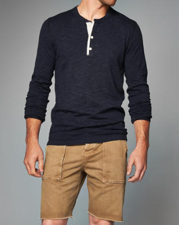 Mens Henley Sweater