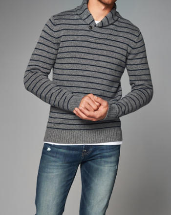 Mens Shawl Collar Pullover