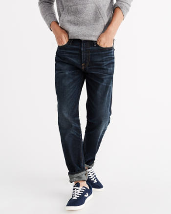 Mens Relaxed Taper Jeans