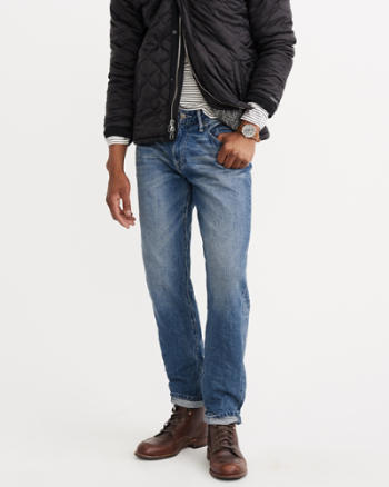 Mens Relaxed Tapered Jeans