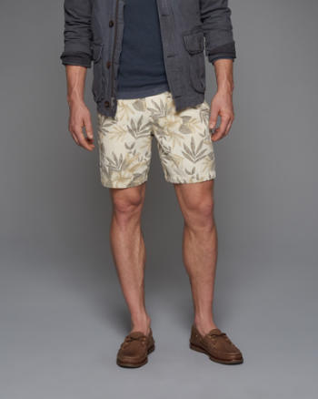 ANF A&F Linen Preppy Fit Shorts