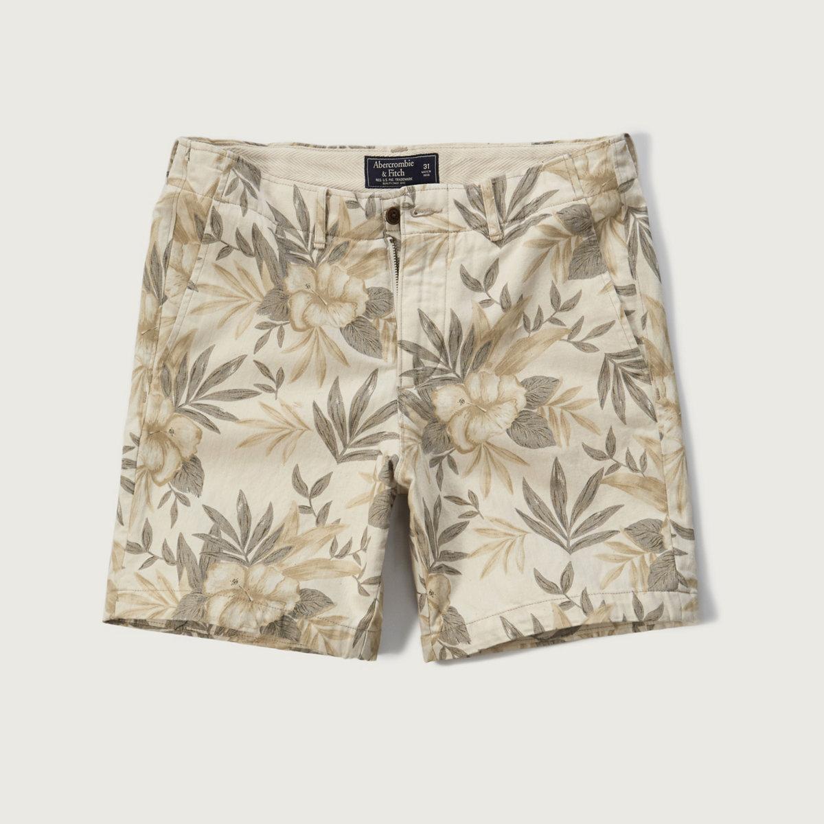 A&F Linen Preppy Fit Shorts