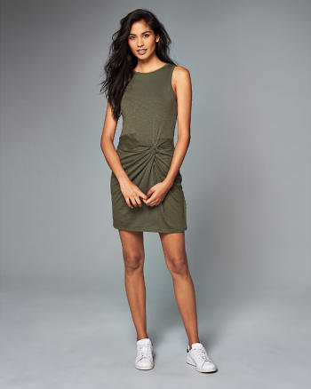 ANF Knot Front Bodycon Dress