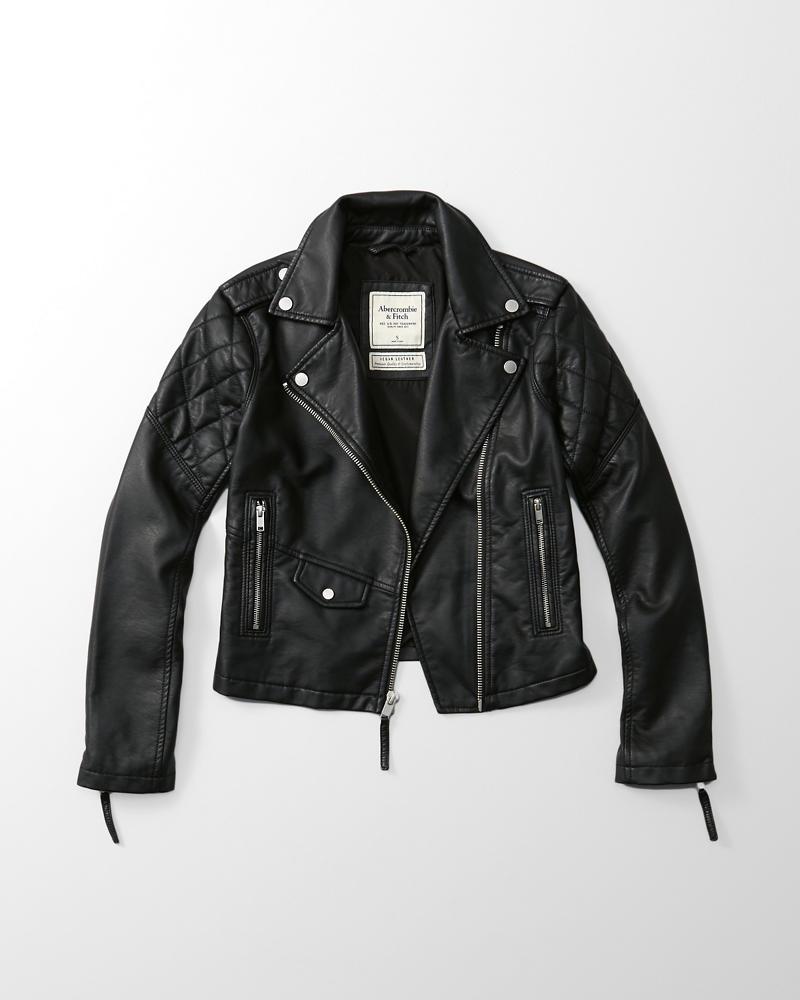 Fake leather jacket women