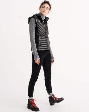 Womens Sporty Down-Filled Lightweight Vest